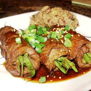 Rolled Beef with Green Beans - Negimaki Style