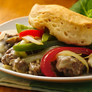 Philly Cheese and Ground Beef Casserole.