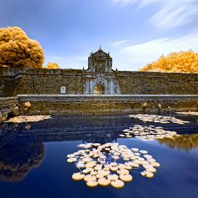 Fort Santiago in IR by Hiram Abanil - Buildings & Architecture Public & Historical ( fort santiago, intramuros )