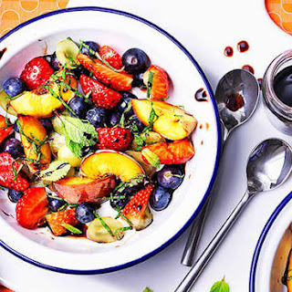Fruit Salad With A Balsamic Vinegar Twist.
