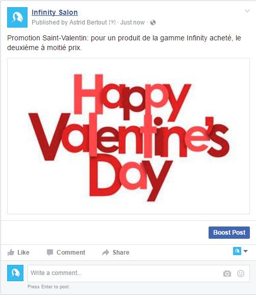 Promotion pour la Saint-Valentin