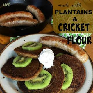 AIP Plantain Cricket Flour Pancakes.