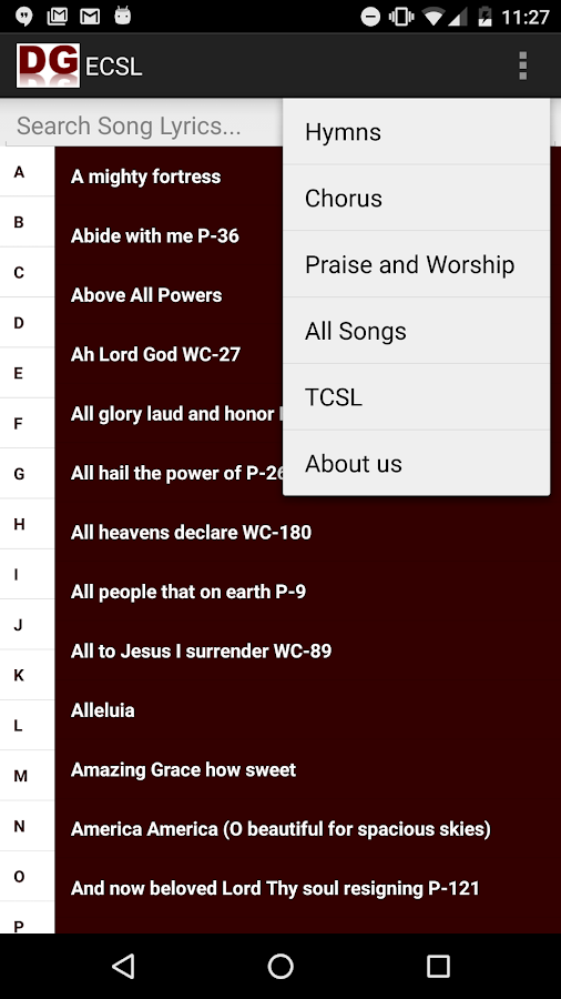 Tamil Christian Songs Lyrics- screenshot