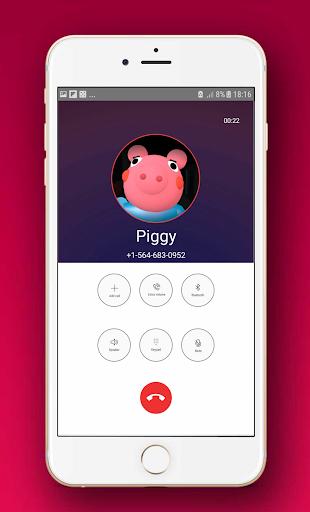 scary piggy roblx fake video call & chat simulator screenshot 3