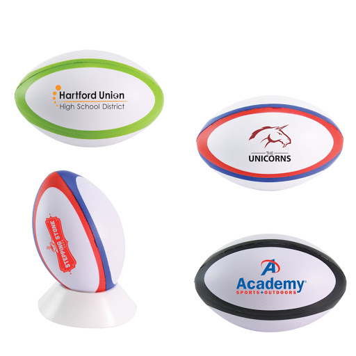 Rugby Ball Stress Shapes to Print - Two Tone