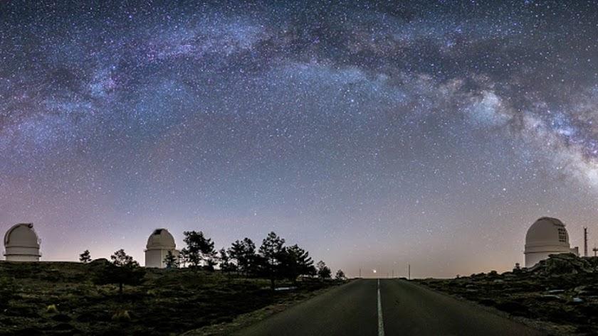 Foto ganadora de 'Paisaje Nocturno' de Antonio Martín Carrilllo.