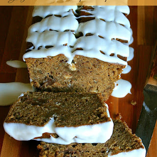 Glazed Double Chip Pumpkin Bread with Pecans