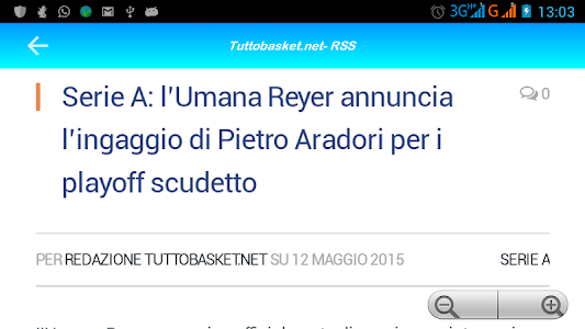 Tutto Basket.net - RSS screenshot 5