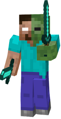 So half Herobrine half Zombie should be stronger than Zombies