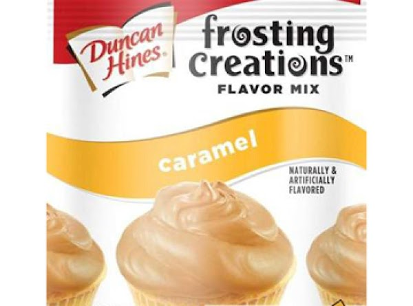 Add entire packet of caramel flavor mix and stir till completely blended. Frost all...