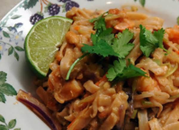 Thai Peanut Shrimp And Linguini