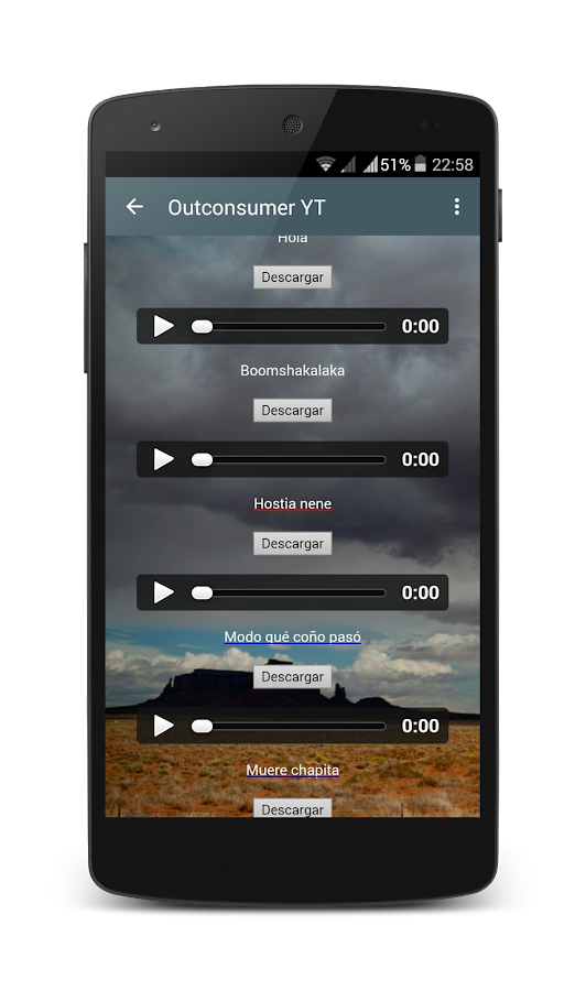 Outconsumer Youtube App- screenshot