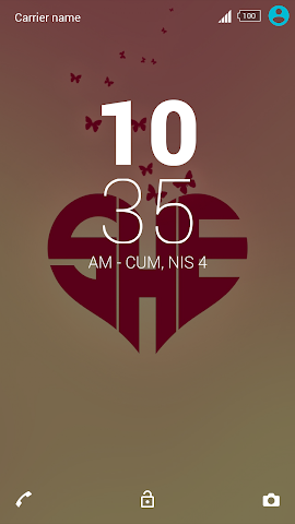 android For Xperia Theme Mylove Screenshot 2