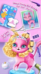 Cat Hair Salon Birthday Party - Kitty Haircut Care APK screenshot thumbnail 2