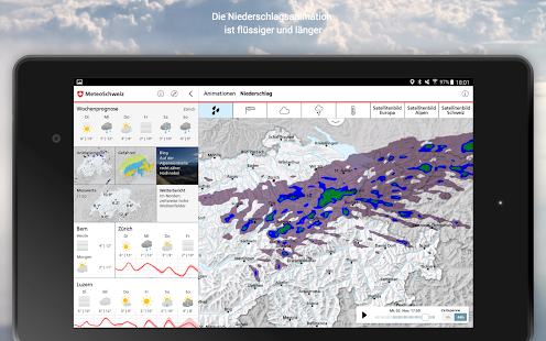 MeteoSwiss – Miniaturansicht des Screenshots