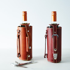 Leather-Handled Wine Carrier