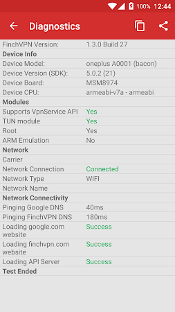 Free & Premium VPN - FinchVPN 1.3.1 screenshot 73544