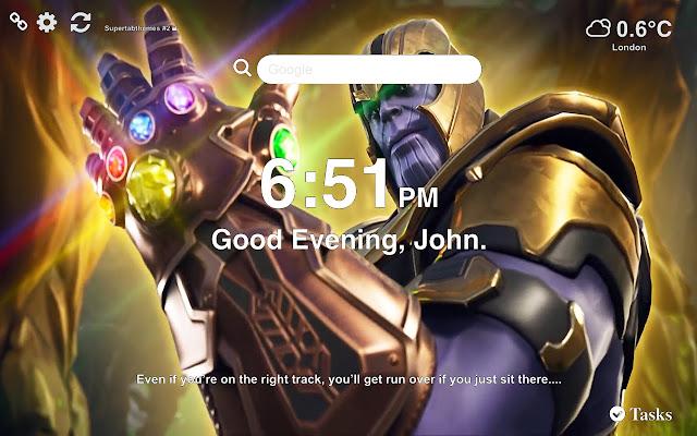 Thanos Fortnite Wallpaper HD Tab Theme