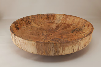 "Photo: Mike Colella 14"" x 2"" bowl [spalted maple]"