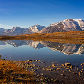 Mountain Reflection by Rita Taylor - Landscapes Waterscapes ( mountain, reflection, water )