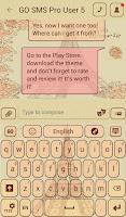 Screenshot of GO SMS Paris