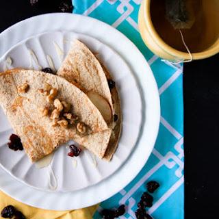 Pear and Cheddar Breakfast Quesadillas