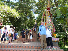 Photo: There are 306 steps to Wat Phrathat Doi Suthep, we walked DOWN every one!