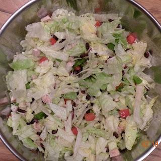 Gluten-Free Black Bean-Taco Salad with Lime Vinaigrette.