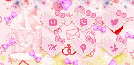 pink cute kitty theme for PC