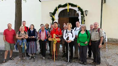 Photo: Ankunftsbild Donnerstag abends in Kirchberg/Wagram. Sie gehen übrigens nicht nach Mariazell...