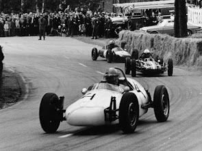 Photo: The Pyynikki race at Tampere, Finland in 1966. The only time they had Formulas at this narrow street circuit in the middle of the city. First car is the same Formcar, number 4 and today carrying number 65, driven by Mr Nikolai Kopiloff, Finland. Behind him, number 10, Mr Bror Jaktlund from Sweden, driving his Dolling and third car, number 2, our red Autodynamics (today number 5), driven by Mr Risto Einto, Finland. Submitted Tapani Lehtinen
