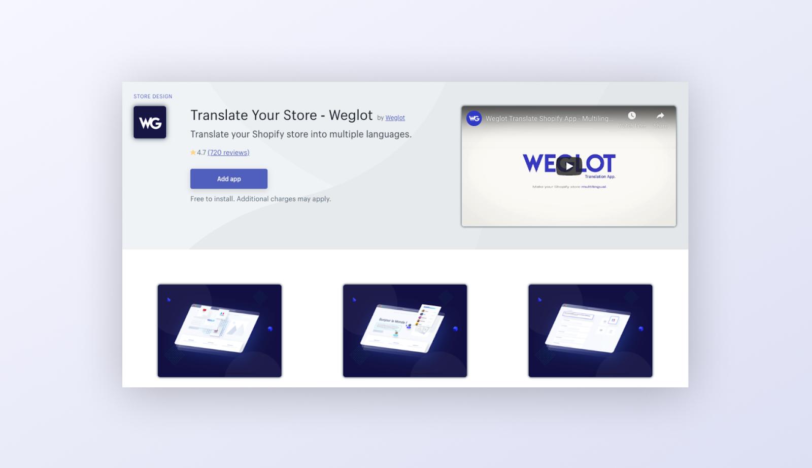 search weglot Shopify app