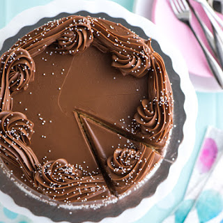Buttermilk Birthday Cake with Malted Chocolate Frosting