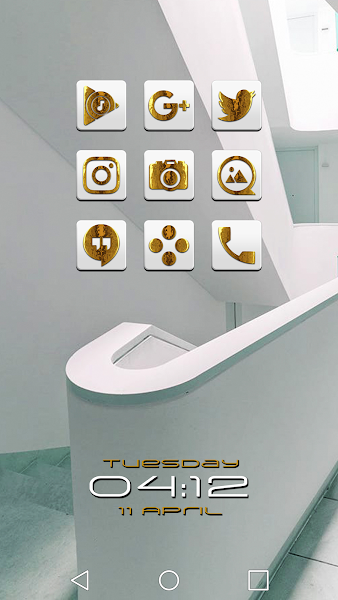 Raid Gold White Icon Pack v1.1