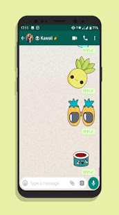 KAWAII WASTICKERAPP CUTE CHAT STICKER Screenshot