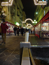 Photo: The start of some evening views of Nice, here on the Rue Massena pedestrian area.