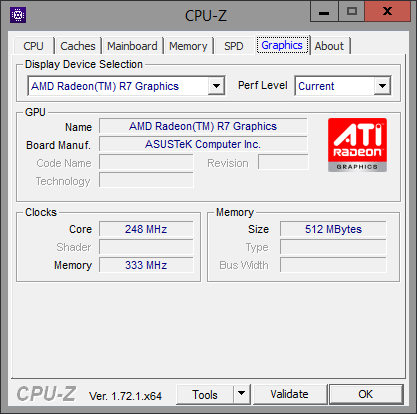CPU-Z Graphics