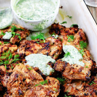 Mediterranean Grilled Chicken + Dill Greek Yogurt Sauce.