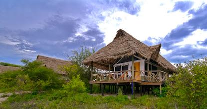 Photo: Tented cabin at Lake Burunge Camp