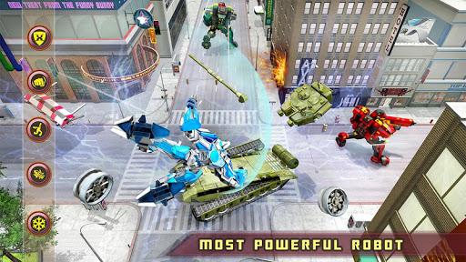 US Police Transform Robot Car White Tiger Game 1.2 screenshots 6