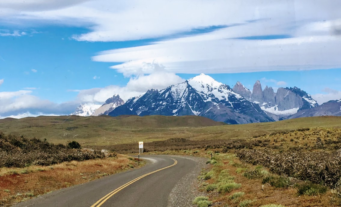 On the road to Torres del Paine.