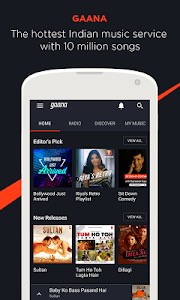 Gaana: Bollywood Music & Radio screenshot 0