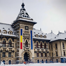 Winter in the City by Radu Eftimie - Buildings & Architecture Public & Historical ( winter, snow, romania, state building, craiova )