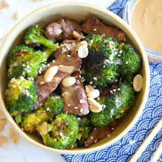 Beef & Broccoli with Sesame-Peanut Sauce.