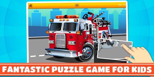 消防车卡车与拼图