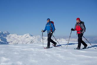 Photo: Schneeschuhtour zum Wetterkreuz, Stubaier Alpen, Tirol, Oesterreich.