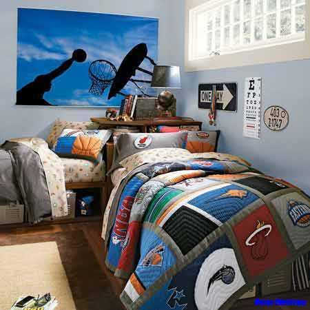 十代の寝室の装飾