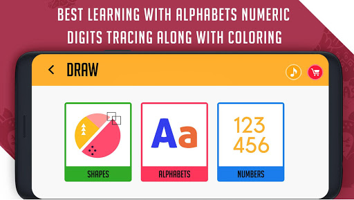 Coloring & Learning: Characters, Alphabets, Digits android2mod screenshots 4