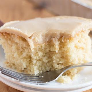 Vanilla Cream Cake with Quick Caramel Frosting Recipe