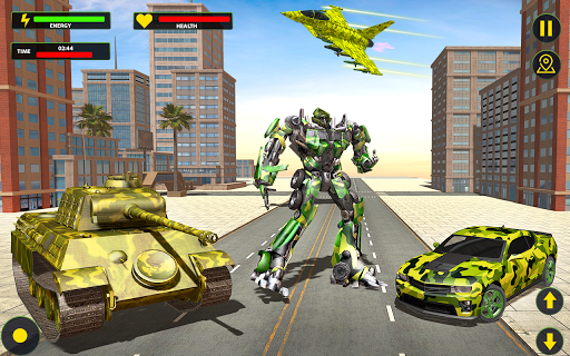 US Army Jet Robot Transforming Wars 1.6.4 screenshots 1